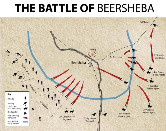 Battle of Beersheba Map of Advance
